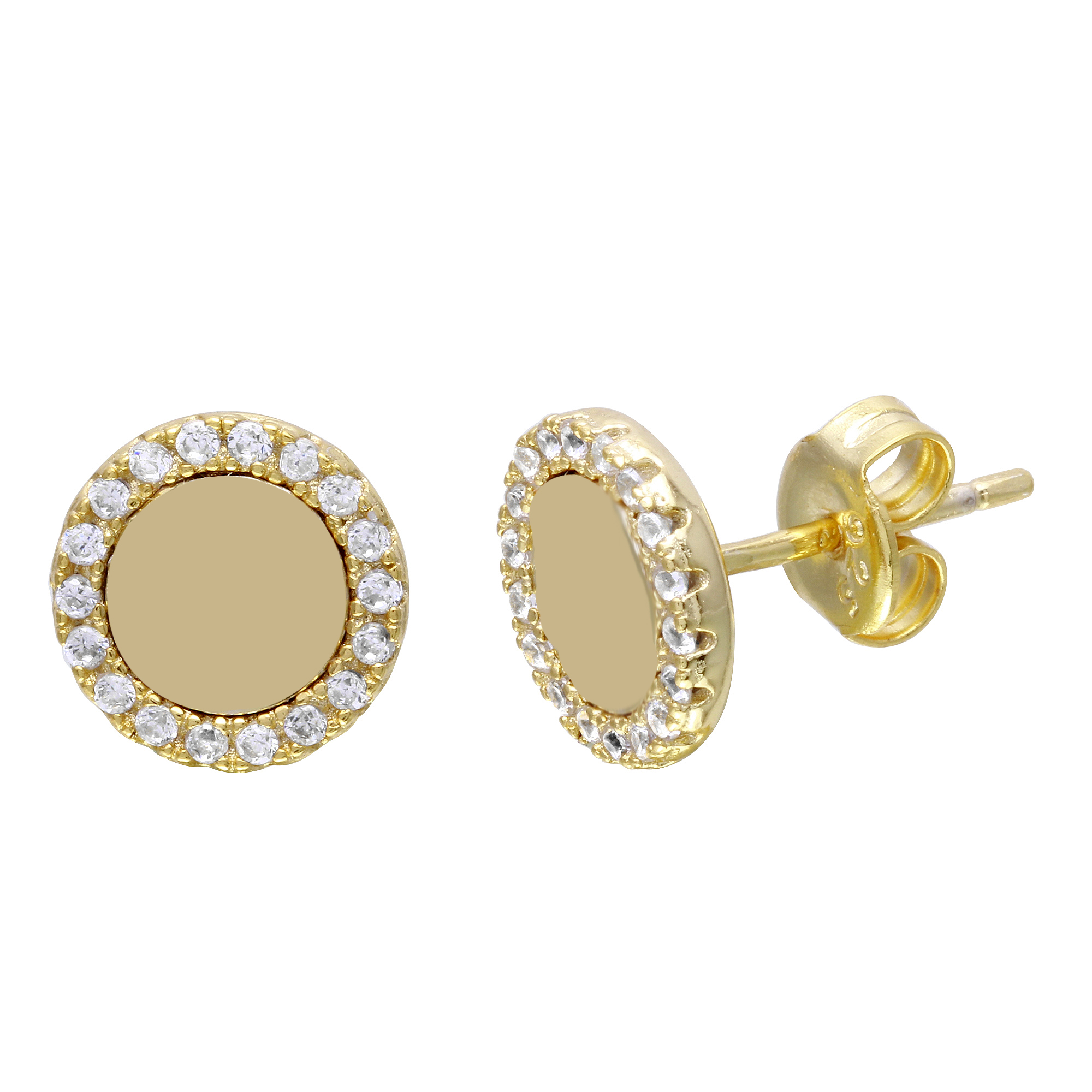 yellow doughnut pair hoops diamond product earrings one circle small gold accent and diamonds white with