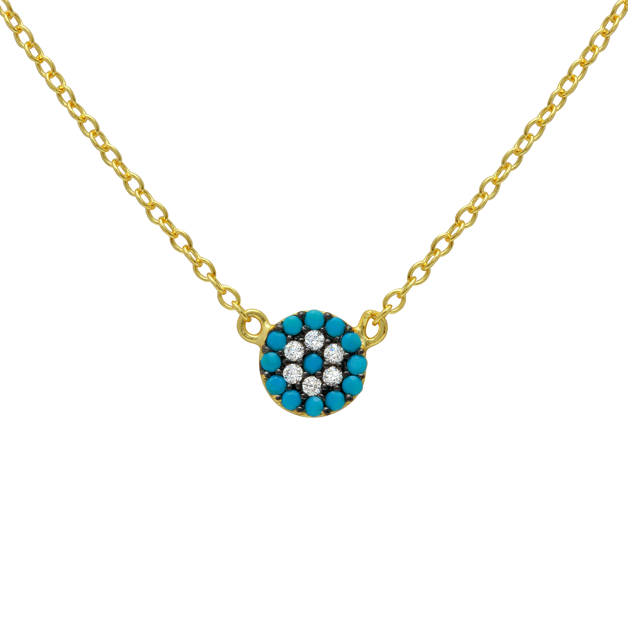 tiny necklaces chick eye necklace greek turquoise online pendant product pink